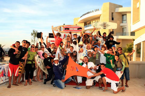 The final round of the 2008 Kiteboard Pro World Tour, Wave Masters.