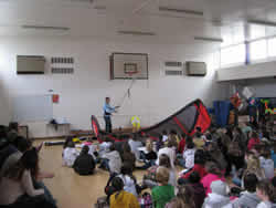 Kitesurfing school talk