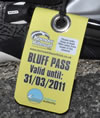Bluff permit tag