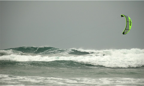 Big swell at Perranporth